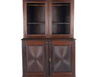 Indo Portuguese Antique Sunburst Buffet Cabinet, Carved Cabinet, Antique Cabinet, Spanish Cabinet, Anglo Indian Cabinet, Indo Portuguese