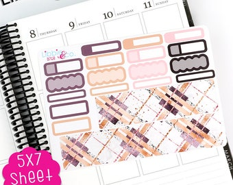 AP A76E Girl Boss Bottom Washi and Functional Box Life Planner Stickers!!  Perfect for the Erin Condren Life Planner!!!