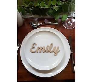 Individual Personalised wedding events seating place names MDF unpainted Style 3