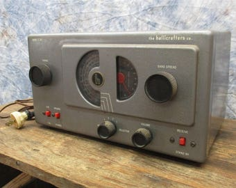 Hallicrafters Model S-38C Shortwave Ham AM Tube Radio Receiver Vintage