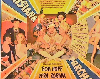 1941 Luisiana Purchase Movie Ad Matted Vintage Print Bob Hope