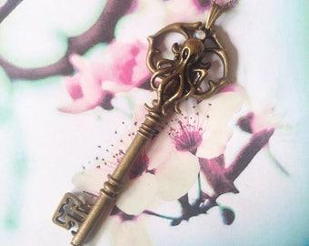 Octopus key pendant
