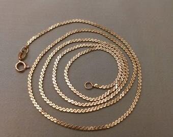 14K Serpentine Chain