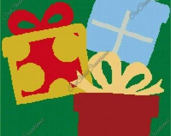 Christmas Presents Graphgan 200x220***PATTERN ONLY***PDF File***Crochet Tunisian