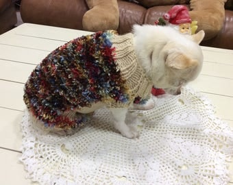 Coat Wool Sweater, dog or cat.. .among 1 kg and 2 kg 500 back 22 cm
