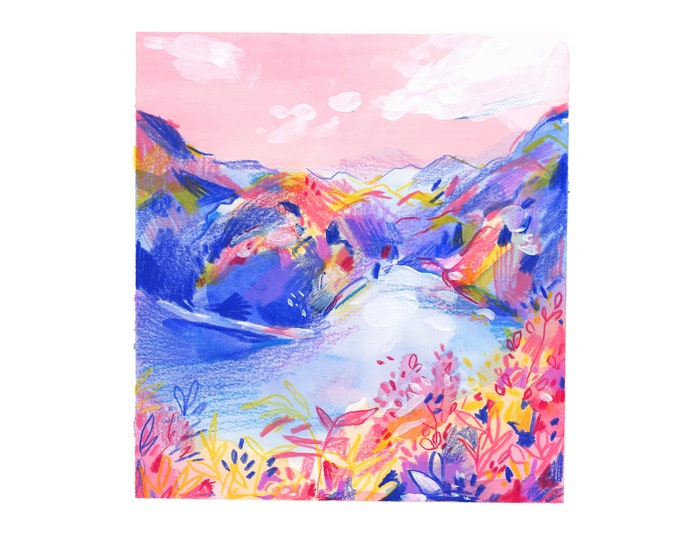 Mountain Landscape 1 -- Art Print
