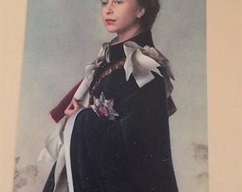 Queen Elizabeth Postcard C1950 Raphael Tuck