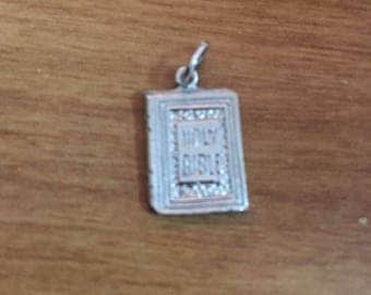 Sterling Holy Bible Charm