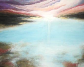 Mystical Gold Detailed Sea Original Painting