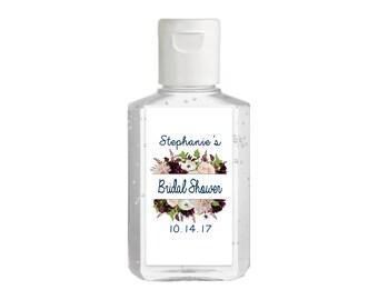 Purell hand sanitizer labels 2 oz. size bottle - Bridal Shower Labels - Bridal Shower Hand Sanitizer Labels - Bridal Shower Decor - Burgundy