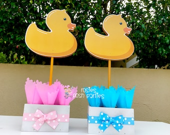 Rubber Ducky Baby Shower Centerpiece Decoration Pink Rubber Ducky Blue Rubber  Ducky Shower Party Guest Table