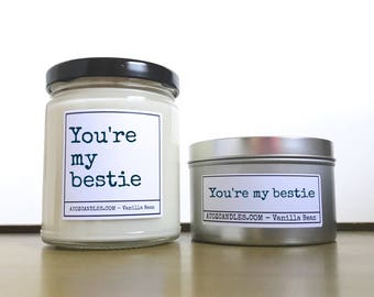 Best|Friend|Gift, Soy Candles, Gift for Friend, Best Friend, Personalized Friend Gift, Gift for Bestie, You're my Bestie