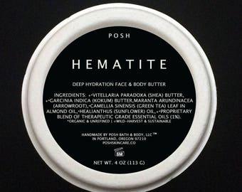 HEMATITE Green Tea Face & Body Butter Deeply Moisturizing, Dry Skin - Non Comogedonic