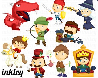 Fantasy Clipart, Fantasy Clip Art, Fantasy Png, Dragon Clipart, Knight Clipart, Horse Animal Clipart, King Clipart, Kingdom Clipart