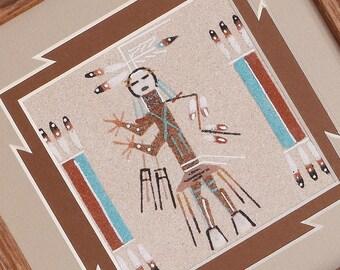 native american,navajo,navajo sand painting,native american art,native,yei,navajo art,sand painting, Navajo Sand Painting Yei