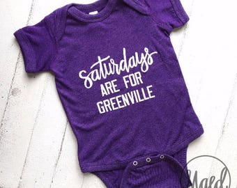 Saturdays are for Greenville Baby Bodysuit | Purple