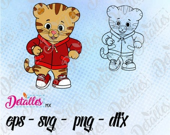 Daniel Tiger , SVG Cutting Vector Eps High Quality design files ai eps for Cricut and Silhouette Cameo