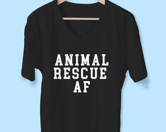 Animal Rescue AF Vneck tshirt