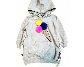 Girl Sweatshirt, Boy Sweatshirt,   Kids Sweatshirt, Girls Hoodie, Boys Hoodie, Kids Hoodie, Trendy Hoodie, Ice cream Hoodie, Casual Dress.