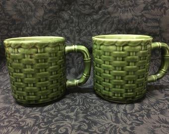 Set of Two Vintage Coffee Mugs