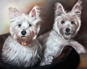 "15""x17"" custom pet portrait, original painting, dog, cat, animal, pet loverpainting, unique, handmade gift idea, pastel Portrait, from photo"