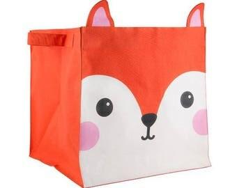 box, storage, nursery, child, Fox, HIRO FOX KAWAII FRIENDS storage BASKET