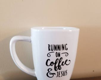 Running on coffee and Jesus cup