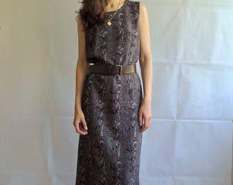 Vintage Abstract Print Longline Dress