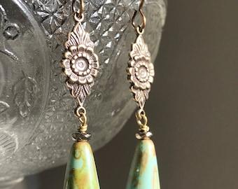 Brass Filigree Handmade Drop Earrings
