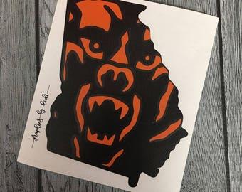 Mercer Bears Decal - Mercer Bears - Mercer University - Black and Orange