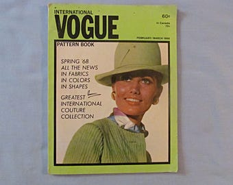 Vogue Pattern Book, Spring 1968, Designer Fashions for Women, Home Sewing