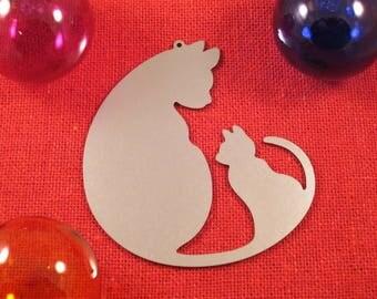 Christmas Cat Stainless Steel Christmas Ornament, Stainless Steel, Christmas Ornaments, Christmas Decoration, Tree Ornament, Christmas