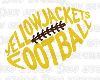 Yellow Jackets Football design SVG,DXF,PNG for use with programs such as Silhouette Studio and Cricut Design Space