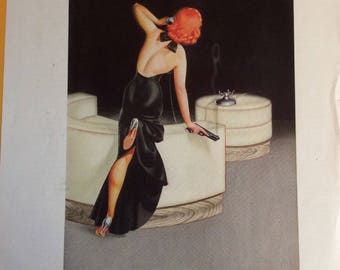 Vintage George Petty prints from 1935 Esquire magazine.