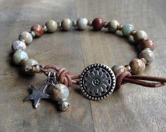 18cm wrist, Bohemian bracelet boho chic bracelet western bracelet hippie womens jewelry gift for her boho chic jewelry western jewelry