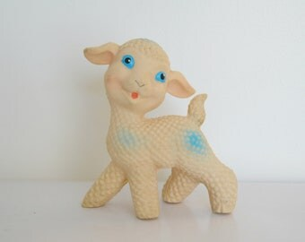 Vintage lamb squeaker toy, toy, vintage french