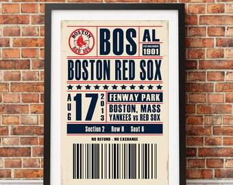 Boston Red Sox Ticket Print