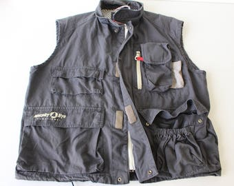 Multipocket Vest Mens Hunter Vest MURPHY NYE Gray Fisherman Gilet Gardener Waistcoat Country Comfortable Sleeveles Coat Medium