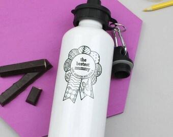 ON SALE Water Bottle - Bestest Mum Mother's Day Gift - Custom Drinks Bottle - Sports Bottle - Gift For Mum - Gift For Mom - Best Mum - Birth
