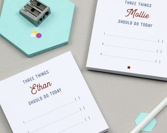 ON SALE Personalised Pair Of Mini 'Three Things To Do' Notepads