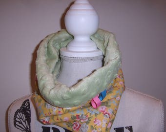 Soft velvet Minkee while Snood scarf