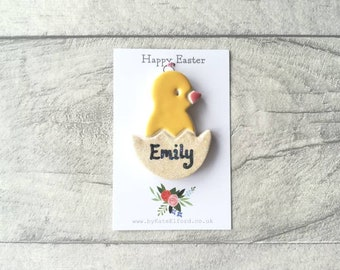 Easter decorations, personalised chicks. Personalised Easter gift. Happy Easter present