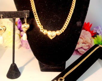 Use Coupon 10OFF Vintage GIVENCHY/Grosse Set.Necklace by Grosse and the Chain Link Bracelet & Earrings by Givenchy. All have Rhinestones