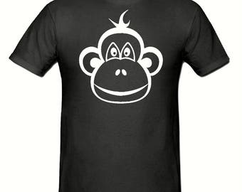 Monkey Face t shirt, children's t shirt sizes 5-15 years