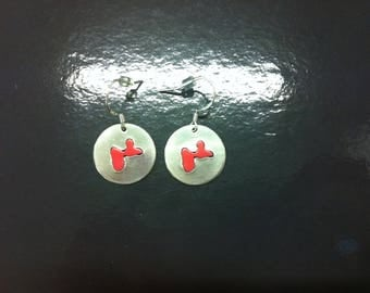 Earrings of Guadeloupe in Silver 925 and aluminum, handmade by me