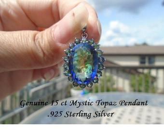 15 ct Mystic Topaz Pendant