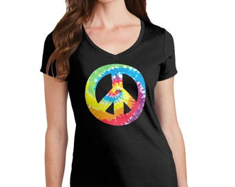 Peace Sign T-Shirt, Peace Sign Shirt, Peace T-Shirt, Peace Shirt, Peace Sign, Peace, Tie-Dye Shirt, Tie-Dye, Tie-Dye T-Shirt, T-Shirt, Shirt