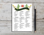 What's in Your Purse, Bridal Shower Game, Spanish Theme, Cactus, Mexican, Purse Game, Wedding Shower, Printable, Instant Download T356B