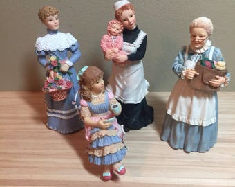 1:12 Scale Dollhouse Miniature Female Resin Figure (each sold seperately)
