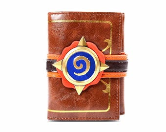World of Warcraft Hearthstone inspired Card Pack leather wallet - natural leather, nerdy geek gamer accessory money free shipping worldwide